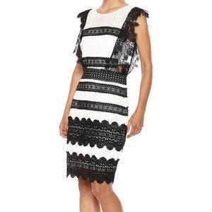 NWT - NICOLE MILLER Women's Lace Combo Dress